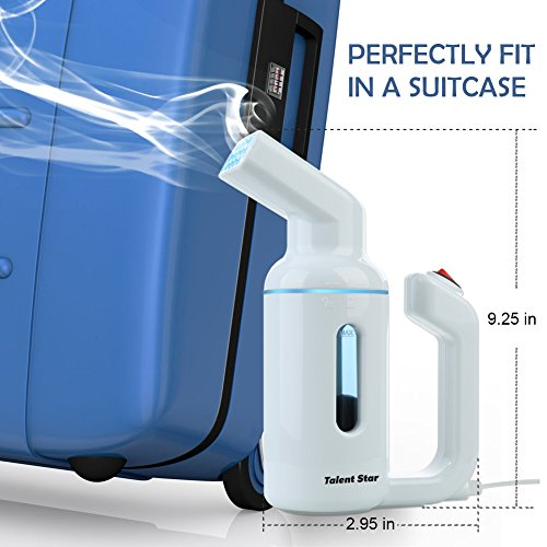Garment Steamer, Handheld 150ML Clothes Steamer Fast-Heat Powerful Travel Garment Fabric Steamer Wrinkle Remover with Automatic Shut-Off Safety Protection, No Damage On Clothes by Talent Star (Image #5)