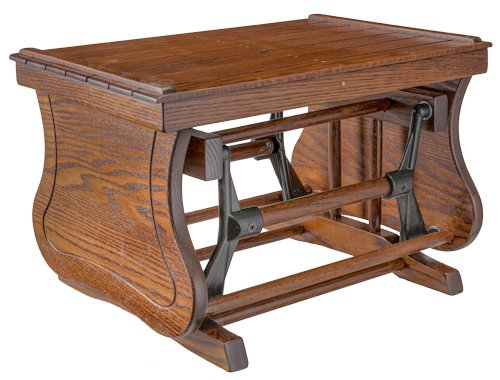 Rustic Gliding Ottoman - Oak in Michael's Cherry Stain Furniture Barn USA SCS30-OAK