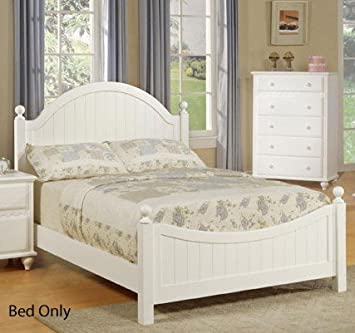 full size bed in white finish by poundex - Full White Bed Frame