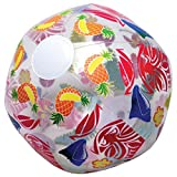Lot Of 12 Tropical Luau Theme Inflatable Clear Beach Ball
