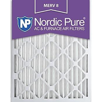 Nordic Pure 14x24x2M8-3 MERV 8 Pleated AC Furnace Air Filter, 14x24x2, Box of 3
