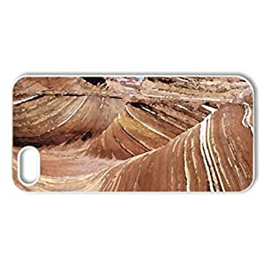 THE WAVE - Case Cover for iPhone 5 and 5S (Canyons Series, Watercolor style, White)