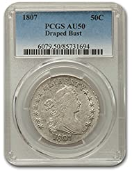 1807 Draped Bust Half Dollar AU-50 PCGS Half Dollar AU-50 PCGS