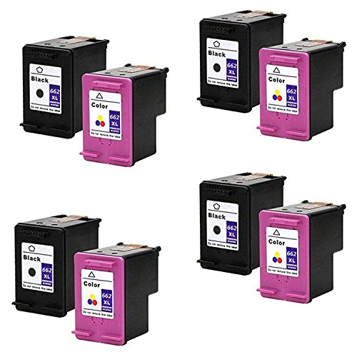 LOVEINK 8 Pack Replacement Ink Cartridge for HP 662XL 662 XL Compatible with Deskjet Ink Advantage 1015 1515 3515 3545 4645 ()