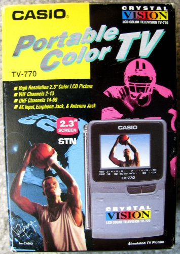 Casio TV-770 Portable Pocket LCD Color TV