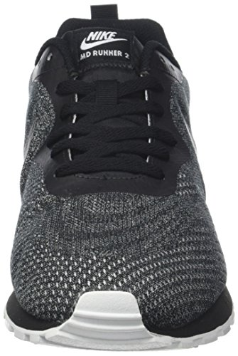 Hombre white Mesh Runner Black 008 Zapatillas Negro Eng para 2 de Running Black MD Nike xOaqzz