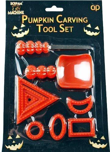 Halloween Pumpkin Carving Tool Set And Cut Outs by Scream Machine (Pumpkin Cut Outs Halloween)