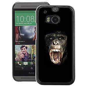 A-type Arte & diseño plástico duro Fundas Cover Cubre Hard Case Cover para HTC One M8 (Ape Monkey Chimpanzee Planet Of The)