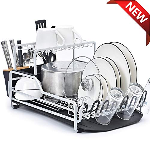 Dish Drainer Rack Storage Drip Tray Sink Drying Sift Plate Bowl Strainer