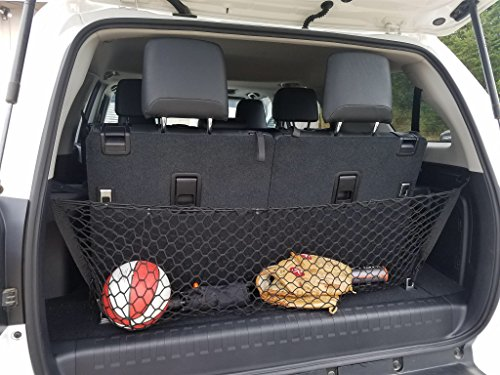 Envelope Style Trunk Cargo Net for Toyota 4Runner 2010 11 12 13 14 15 16 17 2018 2019 3 Row Model Only