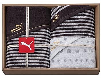 ca688a81e91176 スタイレム タオルギフトセット ブラウン サイズ:スポーツタオル-約 110cm、フェイスタオル-