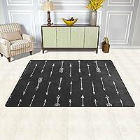 DEYYA Non-slip Area Rugs Home Decor, Seamless Arrow Floor Mat Living Room Bedroom Carpets Doormats 60 x 39 inches