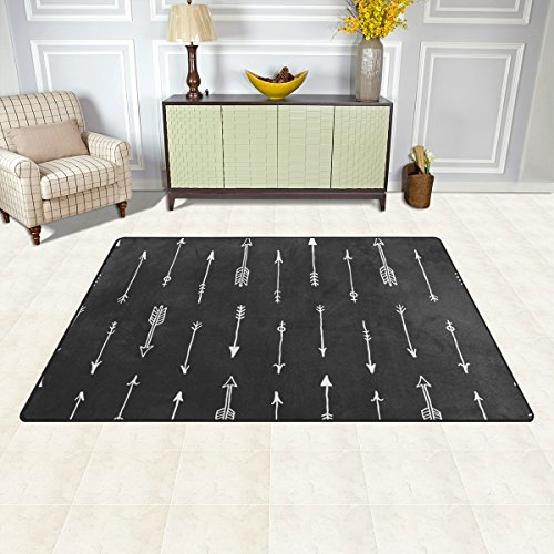 Arrow Rug (DEYYA Non-slip Area Rugs Home Decor, Seamless Arrow Floor Mat Living Room Bedroom Carpets Doormats 60 x 39 inches)