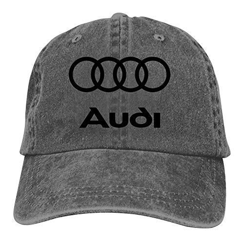 BEKAI Unisex Cowboy Cap | Black Audi Logo Adjustable Baseball Sport/Sun/Trucker/Dad Peaked Hat Snapback Cap (Cap Audi)