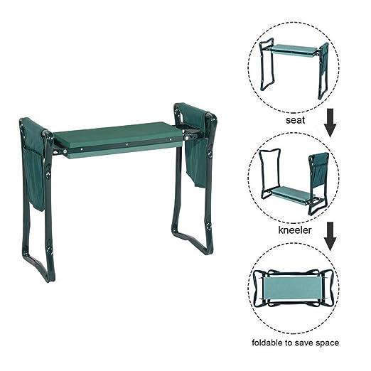 ZYJFP Garden Kneeler Bench, Taburete de jardinería Plegable ...