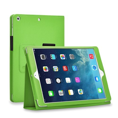 (TNP iPad Mini 4 Case (Green) - Slim Fit Synthetic Leather Folio Case Cover Stand for Apple iPad Mini 4 7.9 Inch Tablet 2015 Release with Auto Sleep Wake Feature and Stylus Holder)
