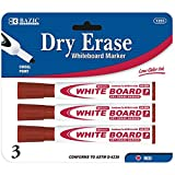 Chisel Tip Dry-Erase Markers (3 Pack) Color: Red, Quantity: Case of 144