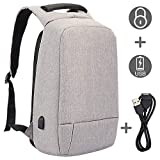 SEEHONOR Laptop Backpack, Slim Business Computer Backpack with USB Charging Cable and Port, Water Resistant Anti-Theft Travel School Bags Fits Under 17 Inch Laptop