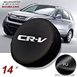 Spare Tire Cover PVC Leather Waterproof Dust-Proof Universal Spare Wheel Protector Soft Bag Fit for Honda CRV CR-V 14'(14' for Diameter 23'-27')