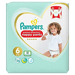 Pampers Premium Protection Nappy Pants Size 6, 25kg