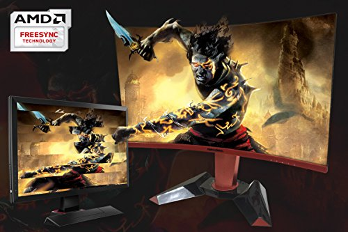 ROCKSOUL RSGM-27M3C QHD 27 inch Curved Gaming Monitor 2560x1440 2K Widescreen; Adjustable Stand, 1440P & Panel