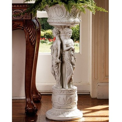 Design Toscano Chatsworth Manor Sculptural Neoclassical Pedestal Urn