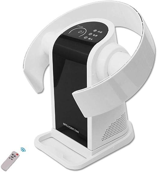 Silencioso Ventilador Sin Aspas, Ventilador de Control Remoto montado en la Pared, Enfriamiento Vertical Desktop Tower Fan, Ideal para Niños, 9 Velocidades: Amazon.es ...