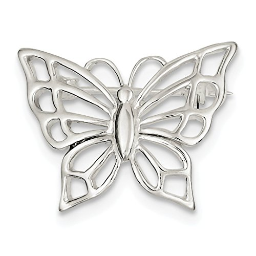Sterling Silver Butterfly Pin - ICE CARATS 925 Sterling Silver Butterfly Pin Fine Jewelry Ideal Gifts For Women Gift Set From Heart