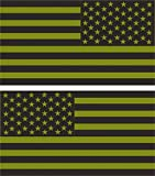 1-Pair Culmination Fashionable Green Subdued Flag Stickers Sign Car Decal USA Tactical Home Size 4