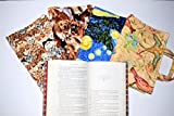 Quilted Large Paperback or Hardcover Book Cover up to 8.5''x6''x1.5'',Carry Strap Handles,Attached Bookmark,Large Trade Book Cover,Bible Cover