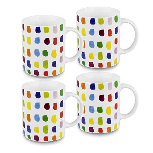 (Konitz Splash of Color Mugs, Set of 4)