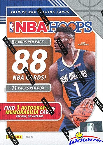 2019/20 Panini Hoops NBA Basketball HUGE Factory Sealed Retail Box with AUTOGRAPH or MEMORABILIA! Loaded with RCS & INSERTS! Look for RCS & AUTOS of ZION WILLIAMSON, Ja Morant, RJ & More! WOWZZER!