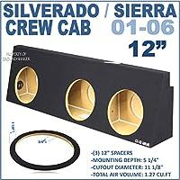 Chevy Silverado & Gmc Sierra crew cab 2001-2006 Subwoofer box