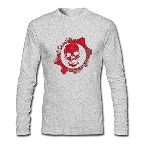 Flycro Slim Fit Men's Gears Of War Emotion T-Shirt Size M Color HeatherGray