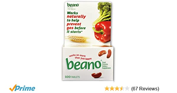 Amazon Beano Food Enzyme Dietary Supplement Tablets 100 Count