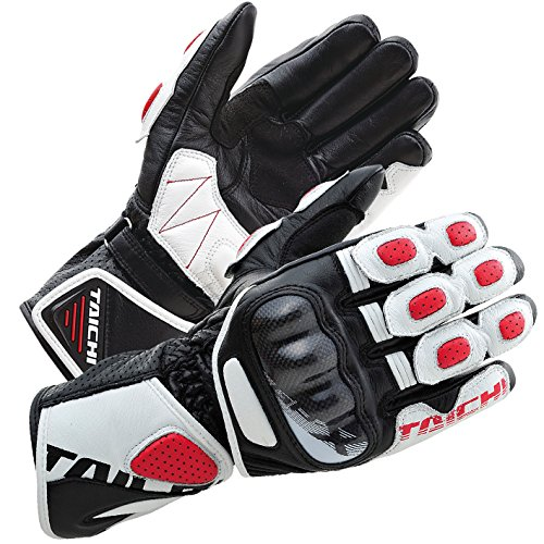 RS Taichi GP-X Racing Gloves - NXT053 (LARGE) (WHITE/RED)