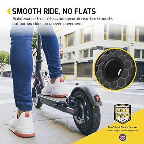 "Swagtron High Speed Electric Scooter with 8.5"" Cushioned Tires, Cruise Control and 1-Step Portable Folding – Swagger 5 by Swagtron (Image #6)"