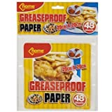 greaseproof paper 48 Sheets 20cm x 20cm by tablecloths4u