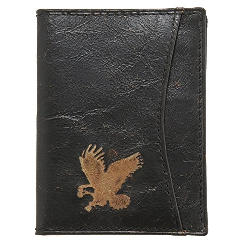 Detour Men's Black Leather Coran Slim Card Case