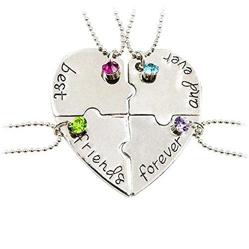 best-friends-forever-heart-puzzle-pendant-necklace-set4pcs