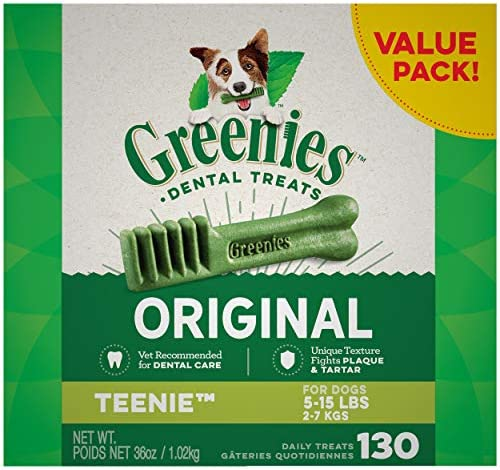 Greenies Original Teenie Natural Dental Dog Treats...