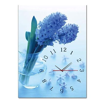 BCCX Reloj de Punto de Cruz,Lienzo Pared decoración,Punto de Cruz de Bordado