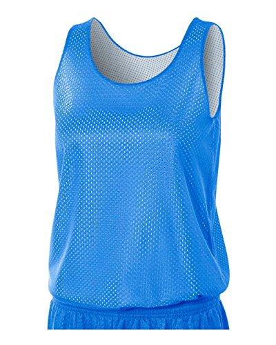 Ladies Reversible Tank Top - A4 Sportswear Royal/White Ladies XL Women's Reversible Mesh Tank (Blank) Uniform Jersey Top