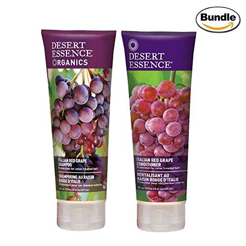 Desert Essence Organics Italian Red Grape Shampoo & Conditioner Bundle - 8 fl oz ea