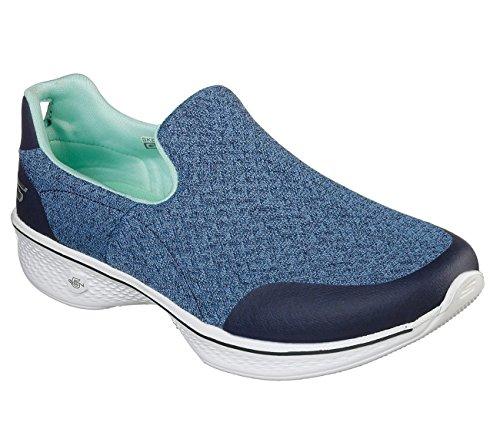 Baskets Femme bleu Marine Walk Go 4 Skechers vert Bleu Enfiler BxRtnxOZ