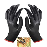 KYLINDRE Garden Gloves 1 Pair, Digging Gloves with Claws for Shredding Carving Soil