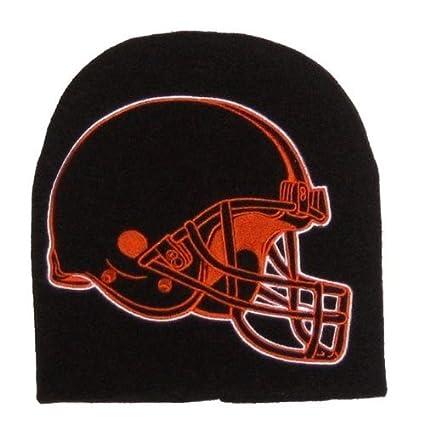 1b118f8eca75dc Cleveland Browns Hype Oversized Big Logo Skull Cap - NFL Cuffless Knit  Beanie Hat