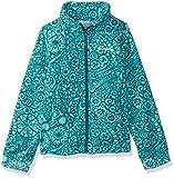 Columbia Girls' Big Benton Springs II Printed Fleece, Emerald Mod Lace, Large