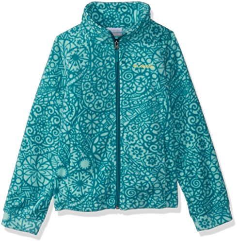 (Columbia Girls' Big Benton Springs II Printed Fleece, Emerald Mod Lace)