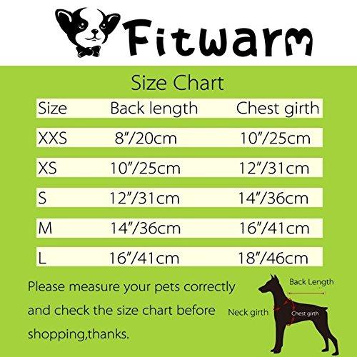 Fitwarm Elegant Floral Dog Sundress Pet Wedding Dress Vest Shirts Cat Clothes, White, XS by Fitwarm (Image #6)